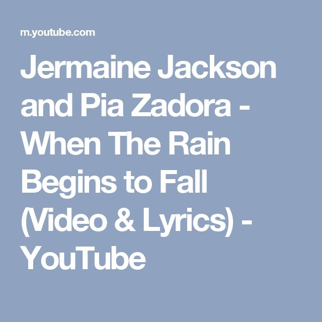 Jermaine Jackson and Pia Zadora - When The Rain Begins to Fall (Video & Lyrics) - YouTube