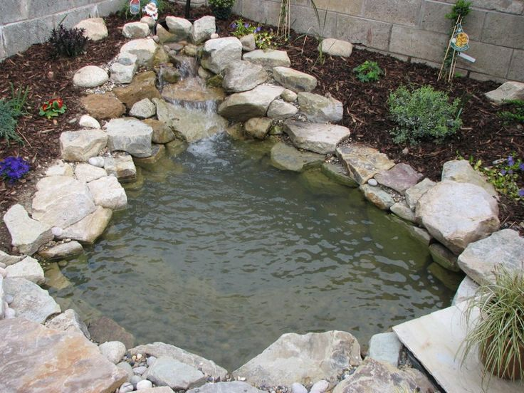 Best 25 pond waterfall ideas on pinterest for Small pond construction