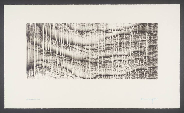 Richard Long 'Slate Drawing Two', 2002 © Richard Long. After long: take rubbings from found marks and translate them into line stitch