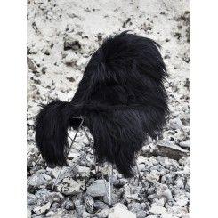 Sort langhåret lammeskind fra The Organic sheep #lammeskind #theorganicsheep