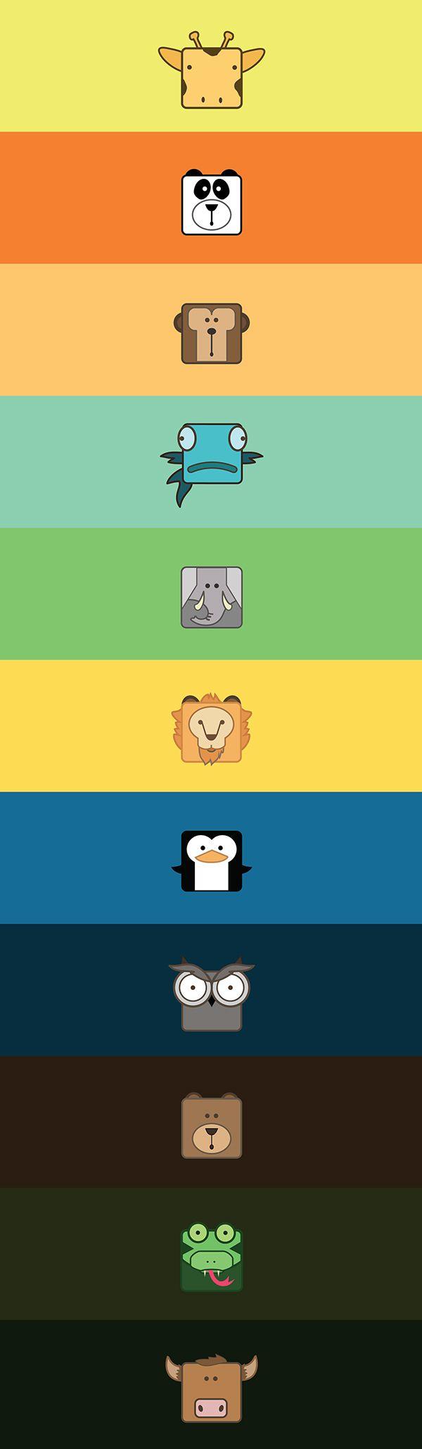 Animal icons design on Behance