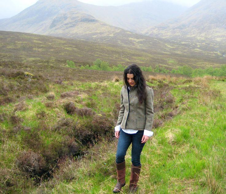 Ardnish Jacket. Handmade in the Scottish Highlands. www.lornagillies.com Atmospheric, haunting, dreamer inspiration. Outlander. Scotland. Highlands. Glencoe