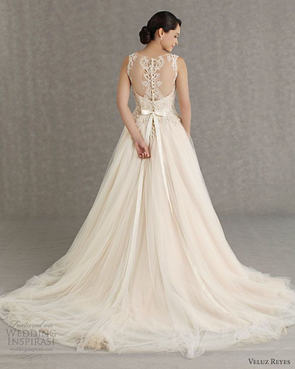 Veluz Reyes Wedding Dresses 2013 Id Have The Front Shorter So You Could