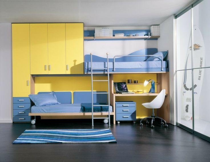 su Letti A Castello Per Ragazzi su Pinterest  Moderne camere da letto ...
