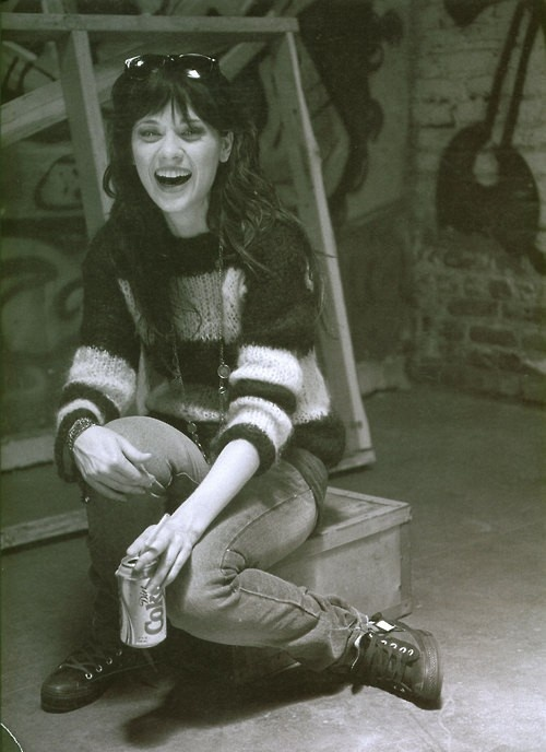 zooey dechanel- I just love her and want to be her best friend.