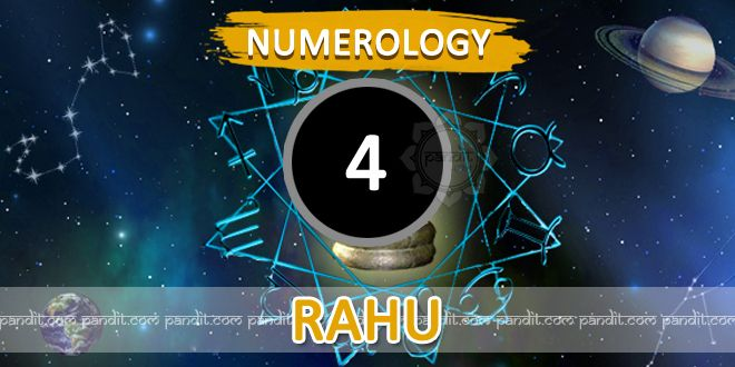 """"""" Numerology Number 4 """" by Numerologist Rahul Kaushal  -------------------------------------------------------- Numerology Number 4 : Number four is represented by RAHU which has been imagined to be a shadowish in nature & has a attractive personality. All those born on 4,13,22nd& 21st of a month are governed by this number. Which is revolutionary in nature and represent unexpected happenings in life.  http://www.pandit.com/numerology-number-4-chart/"""