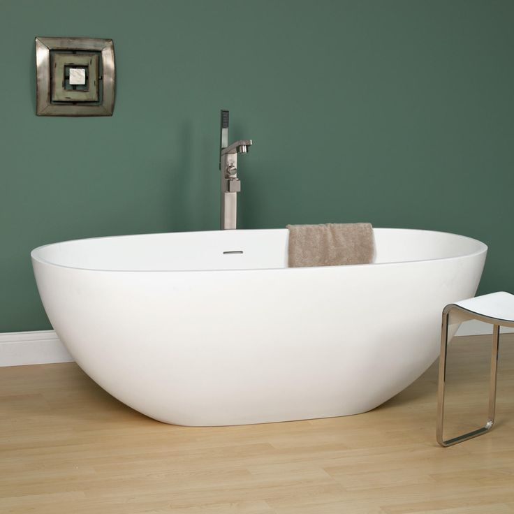 66 best tubs images on pinterest soaking tubs bathtubs for Best freestanding tub material