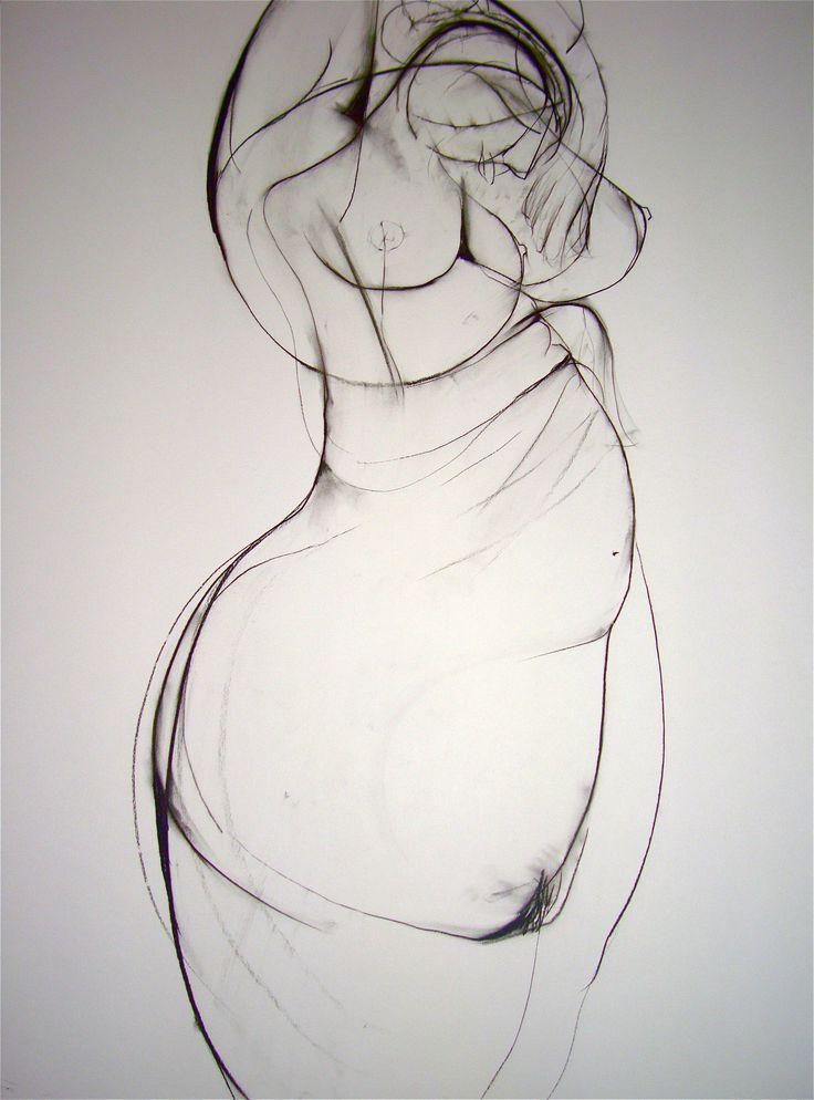 'Dreaming of Motherhood', charcoal on paper, 81cm x 57cm (c)Carmel Jenkin. More info about me & my art at http://carmeljenkin.com