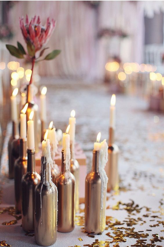 Possibly the most romantic aisle decor ever... Photo by Sonya Khegay Photography via Ruffled