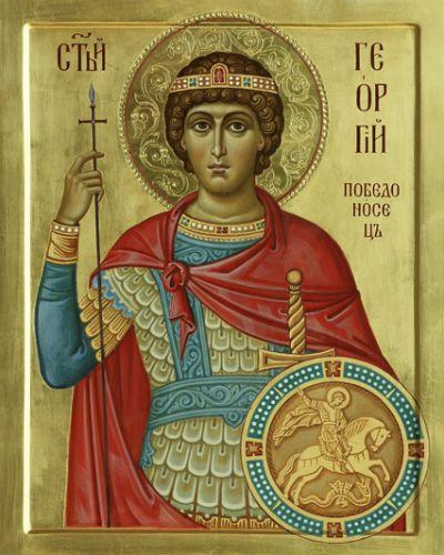 Святой Георгий Победоносец, иконописец Дмитрий Хомяков