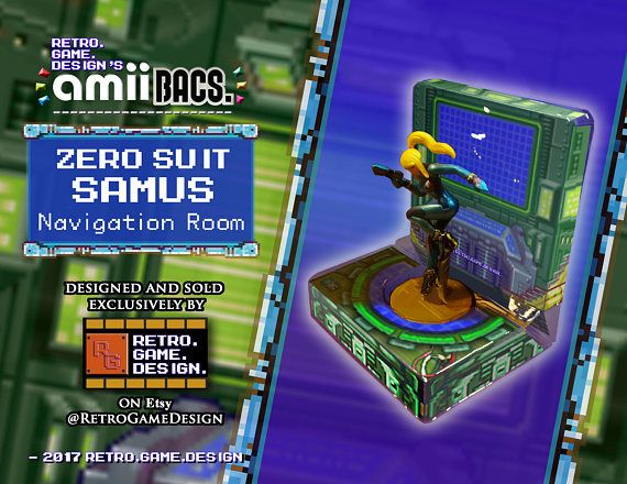 Super Smash Bros Zero Suit Samus AmiiBac (Navigation Room)
