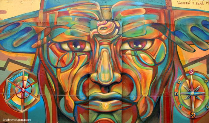 Mural by Guache, Lima, Peru 2013