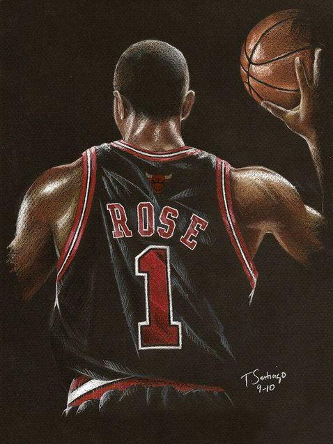 Derrick Rose art, more @ http://www.TheSportsWonk.com