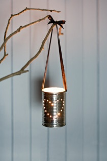 tin lantern... these would be great for an outdoor evening supper or get-together!