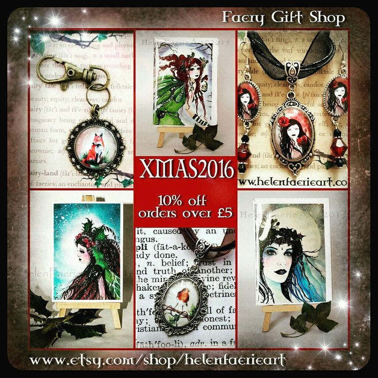 10% off all orders over £5 with coupon code XMAS2016 x