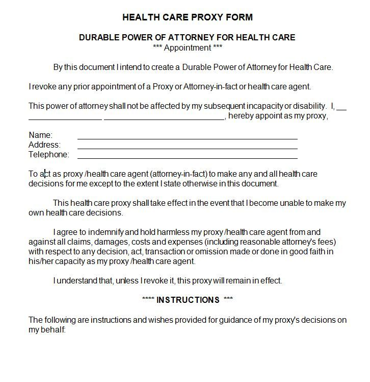 Health Care Proxy Sample Contract Docs Health Care Rental Agreement Templates Contract Template