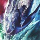 Moody Blues, an encaustic painting