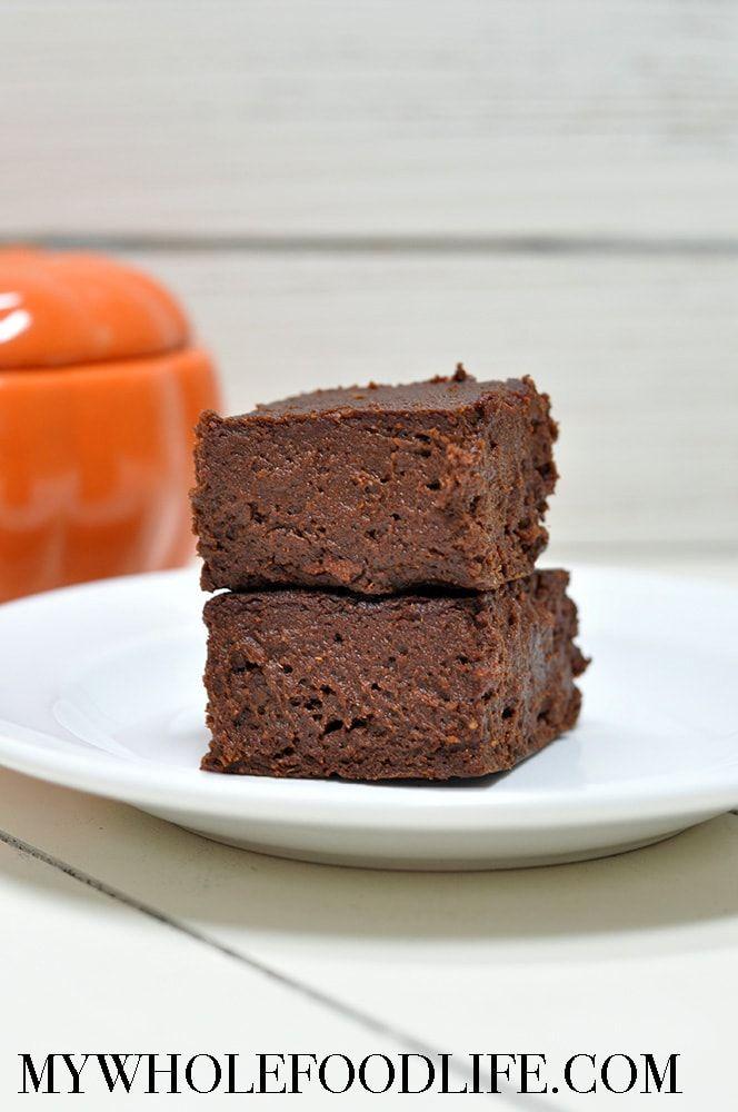 Flourless Pumpkin Brownies (Vegan, Gluten Free) | My Whole Food Life | Bloglovin'