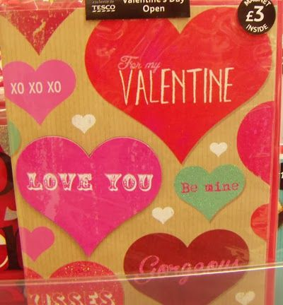 tesco valentine card value