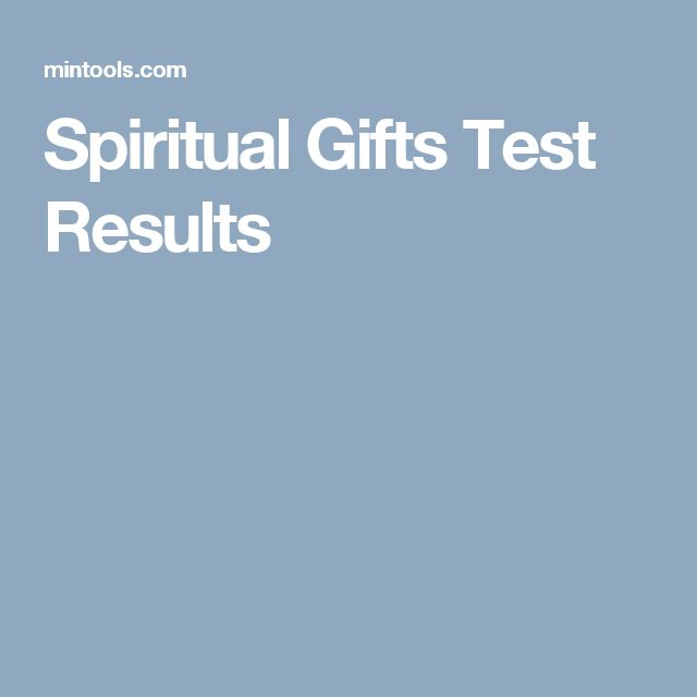 Spiritual Gifts Test Results