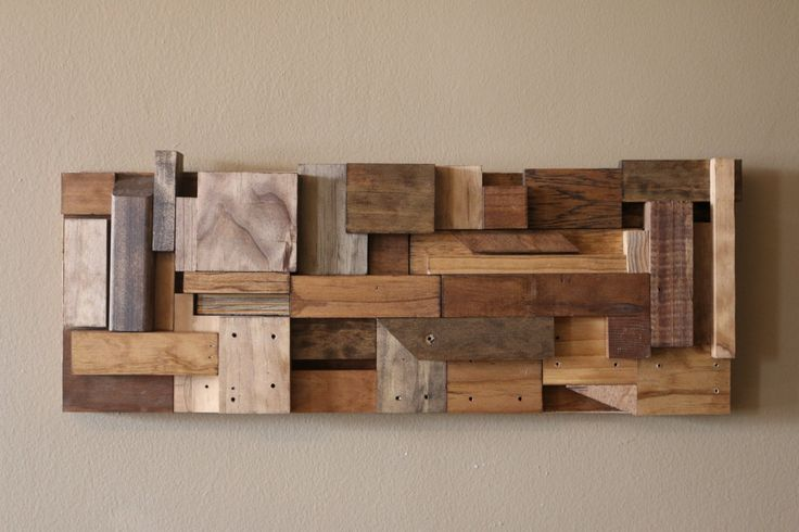Reclaimed wood art/ Wood Wall Art/ Scrap Wood Art/ Hanging Wood Art by WoodWarmth on Etsy