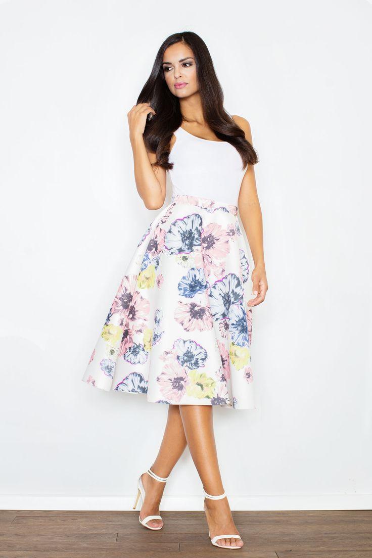 Idzie wiosna! #wiosna #spódnica #kwiaty #moda #styl #stylizacja #midi
