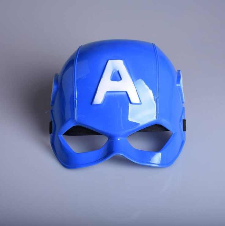 [Visit to Buy] The Avengers Captain America Mask Half Face PVC Cartoon Super Hero Mask For Kids Children Birthday Christmas Children's Day Gift #Advertisement