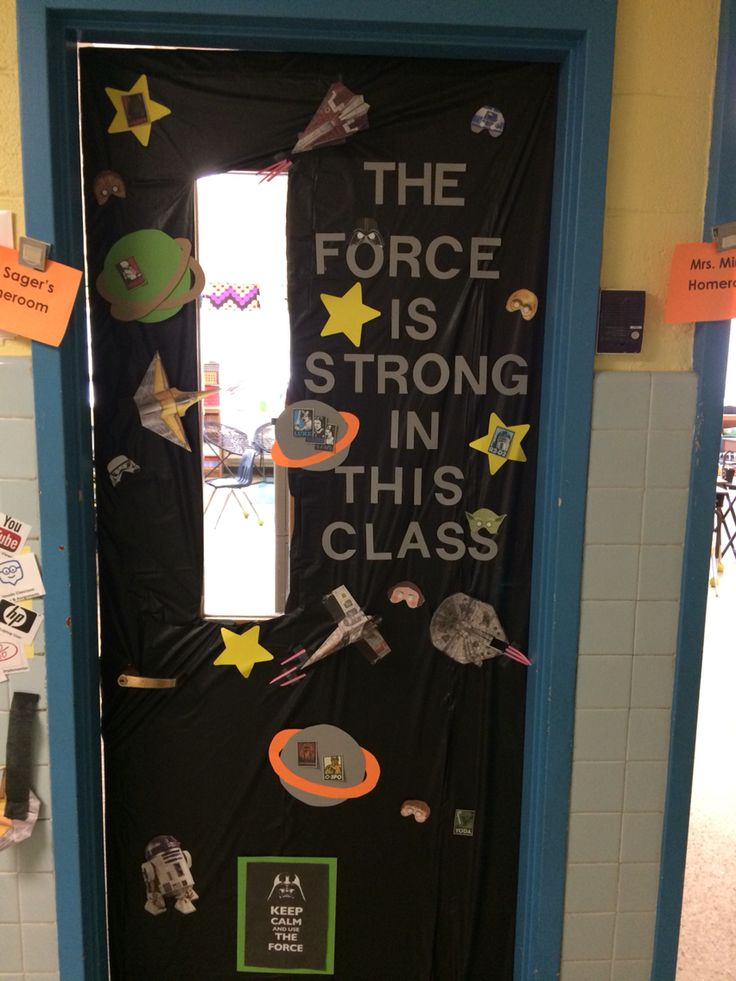 Classroom Decor Stars : Door decorating for teacher appreciation star wars