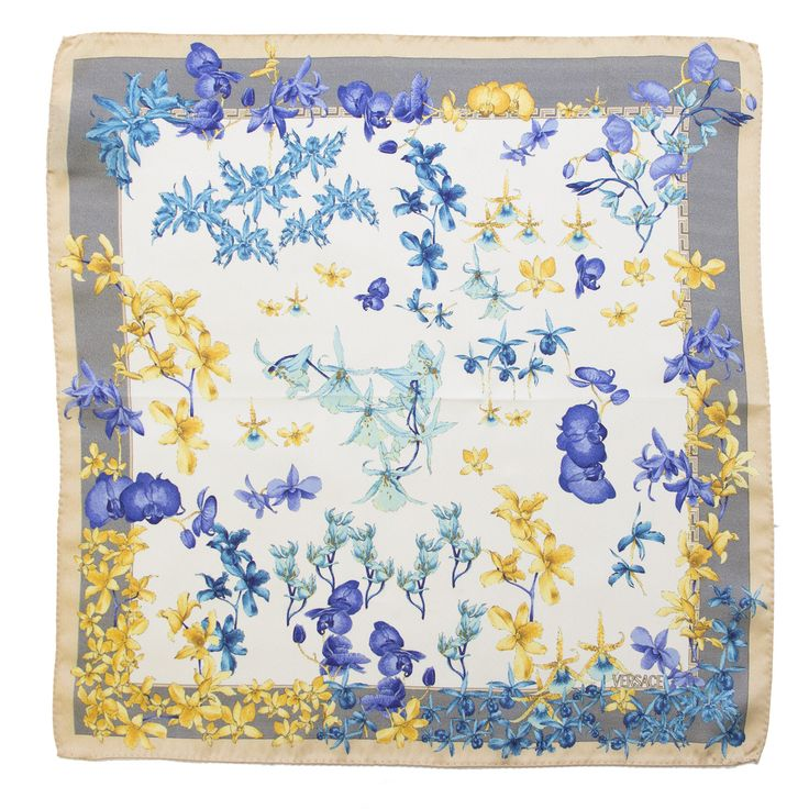 Multiprint Versace silk scarf Size: 17x17 Material: 100% silk Color: Multi Country of Origin: Italy