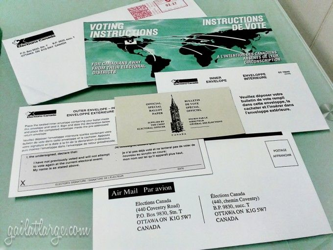Canadian federal election 2015 voting kit for citizens abroad
