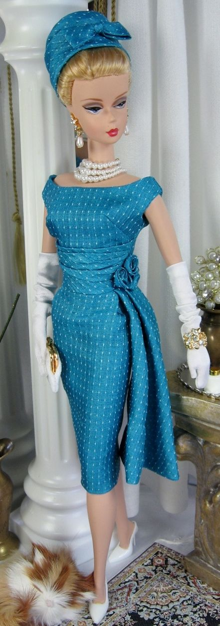 Vintage Teal for Silkstone Barbie and similar size dolls on Etsy now