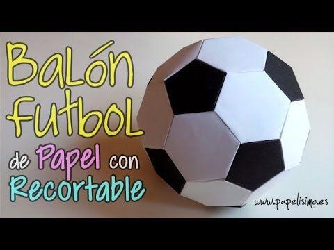 Balón Fútbol de papel. Recorta y pega | Aprender manualidades es facilisimo.com