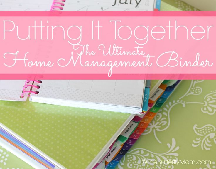 The ultimate home binder. How to put it all together. Links to the best free printables too