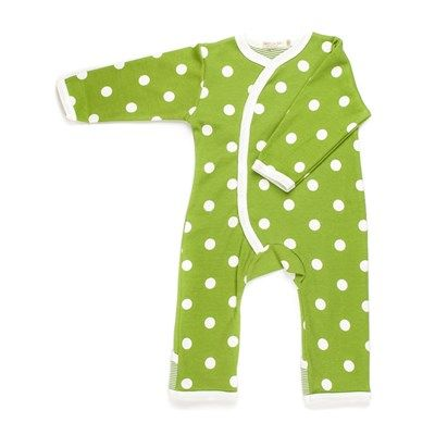 Spotty range of baby grows have a unique kimono style opening made with soft organic cotton.
