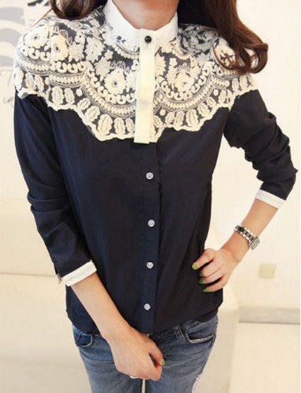 Koszula z koronką. Klik w zdjęcie, a przejdziesz do sklepu :)