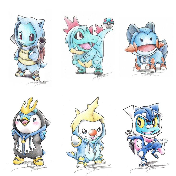 Water starters by Itsbirdy