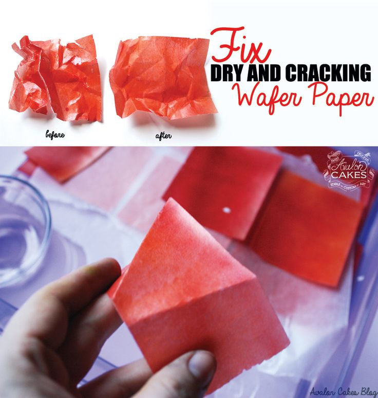 How to fix dry and cracking WAFER PAPER! This is a lifesaver!