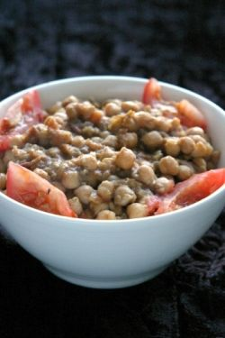 Quick Chana Masala: Cheap, simple and lip smacking chick peas smothered in masalas