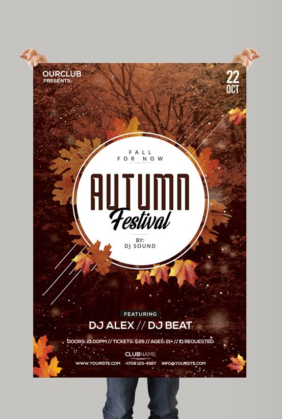 Autumn Festival Free Psd Flyer Template Flyers Pinterest