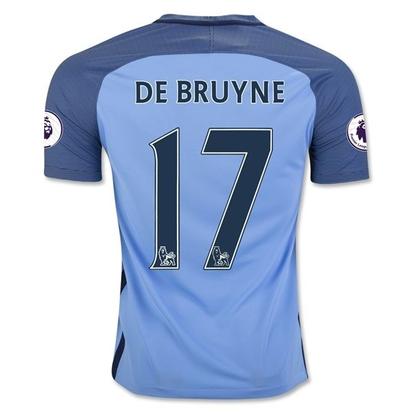 New Manchester City DE BRUYNE #17 Home Men Soccer Jersey 2016/17: High Quality Jersey Slim Fit Embroidered club badge and… #OnlineMarket