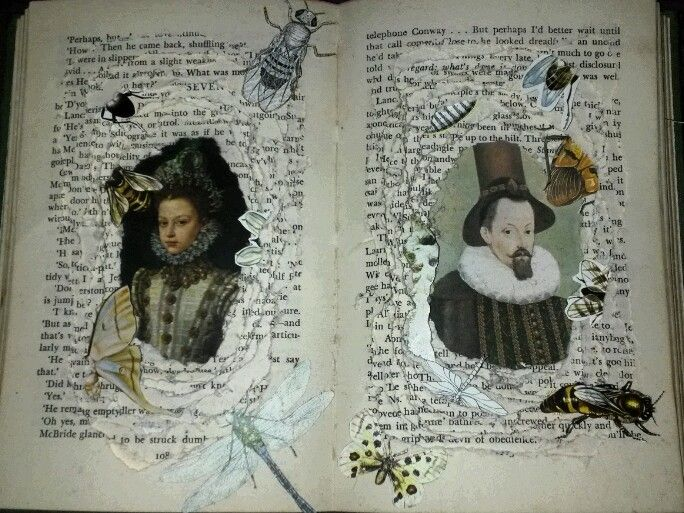 All Things Move Toward Their End - an altered book by Keinwyn Shuttleworth