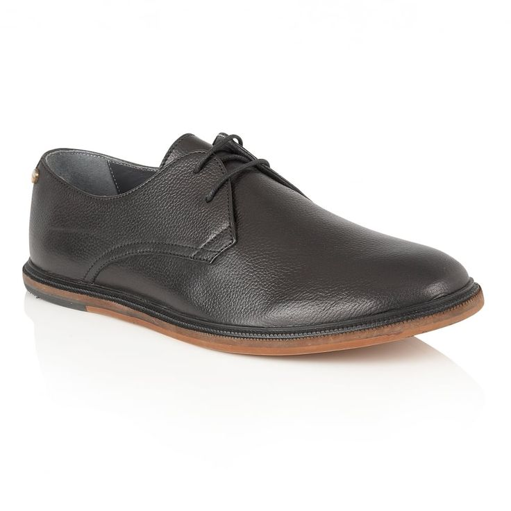 Burley Black Leather Lace-Up Derby Shoe