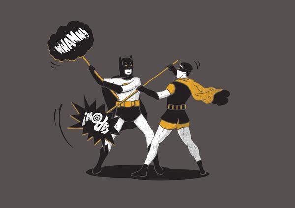 Le fight.: Graphic Design, Pop Art, Batman Overload, Art Prints, Argument Art, Maes Illustration, Graphic Inspiration, Batman Robin