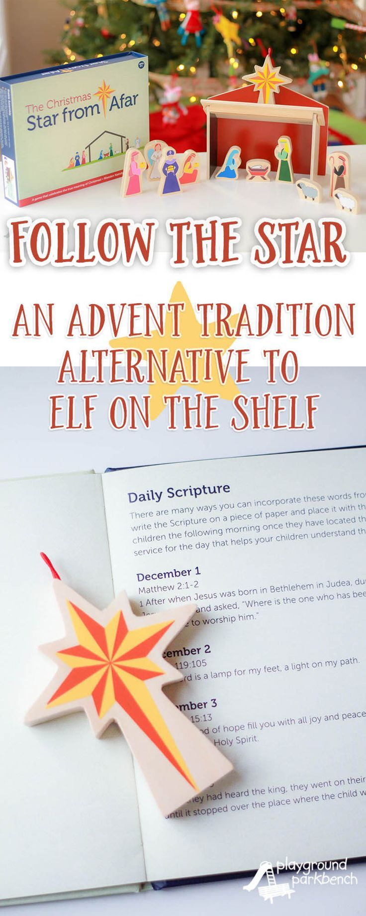 Celebrate the Christmas season with a new Advent tradition... one that celebrates the TRUE meaning of Christmas everyday. The Star from Afar boxed set includes a beautiful nativity scene and a hardcover book that explains how to help the wise men follow t