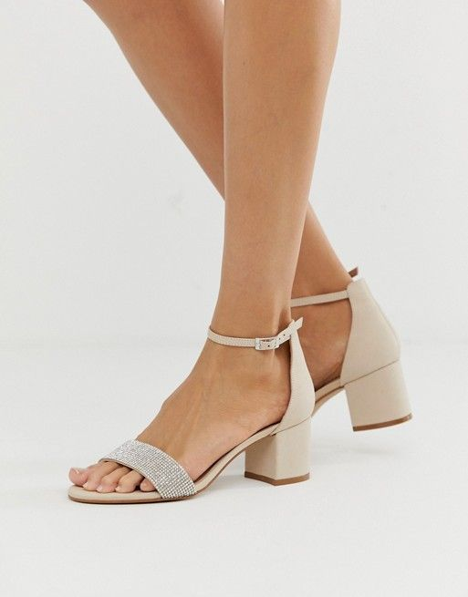 7a45d23a580c ALDO Gladoniel embellished block heeled leather sandal in beige in ...