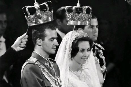 The wedding of Prince Juan Carlos of Spain (King Juan Carlos) and Princess Sophia of Greece (Queen Sofia), 14 May 1962