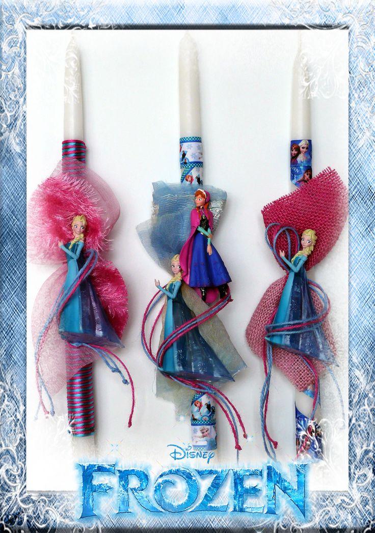 Λαμπάδες Disney Frozen Elsa-Anna