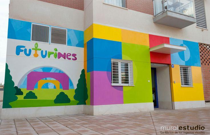 Muralestudio murales infantiles murales para colegios for Casas para jardin infantil