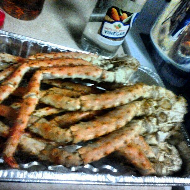 Steamed Alaskan crab legs