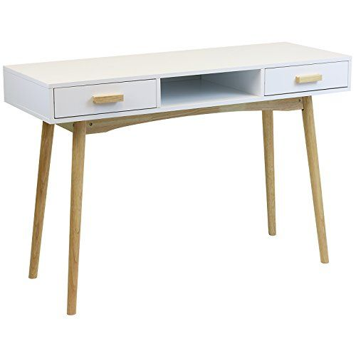 Hartleys Home Office White Retro Desk---83.99---